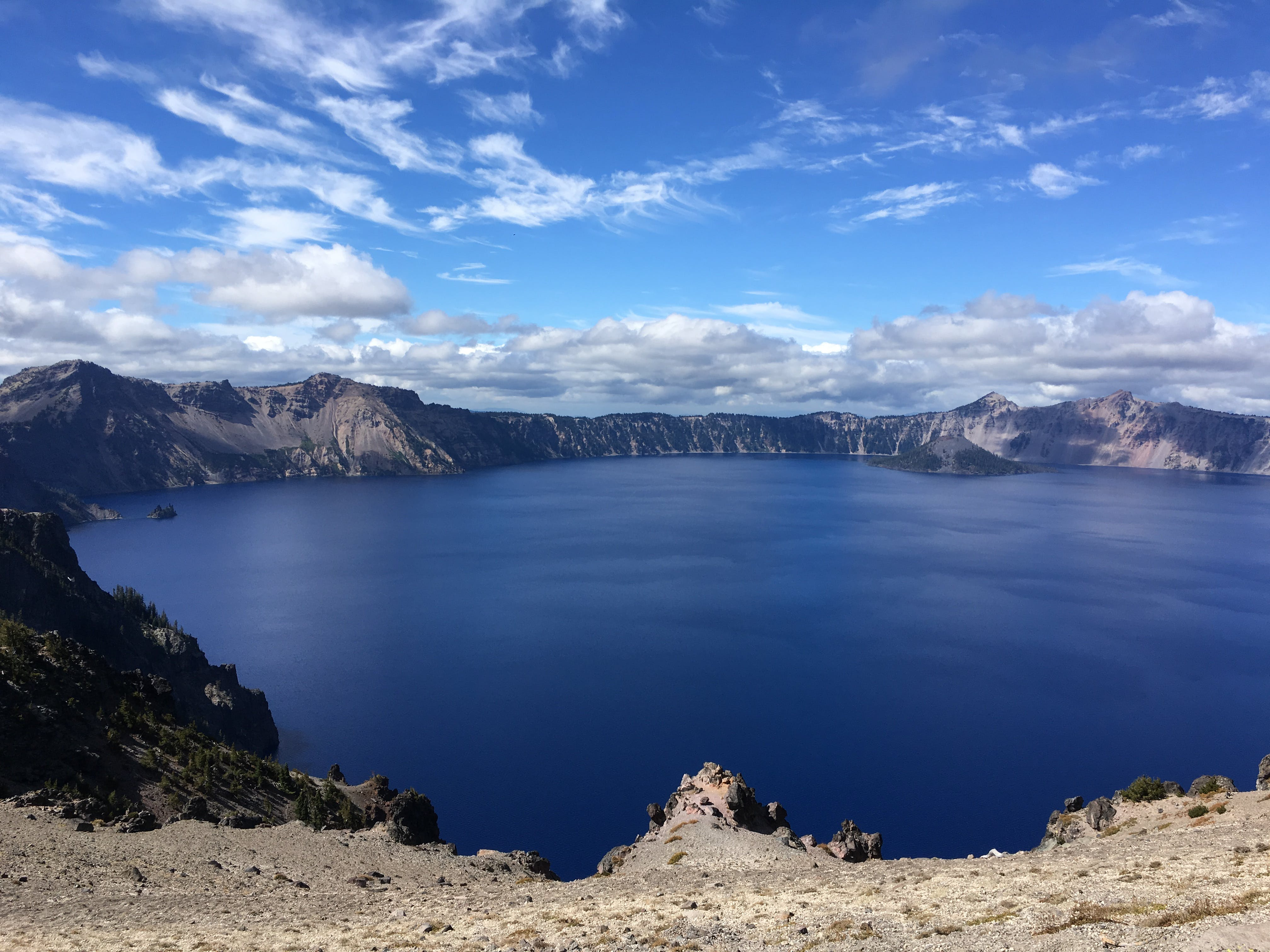 Crater lake camping with full hookups
