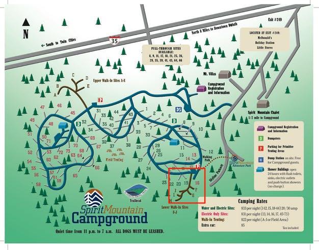 Spirit Mountain City Campground, MN | The Dyrt on