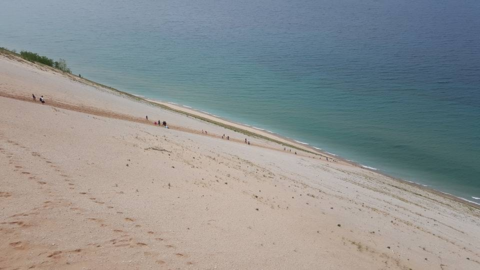 sandy sleeping bear dunes camping trip