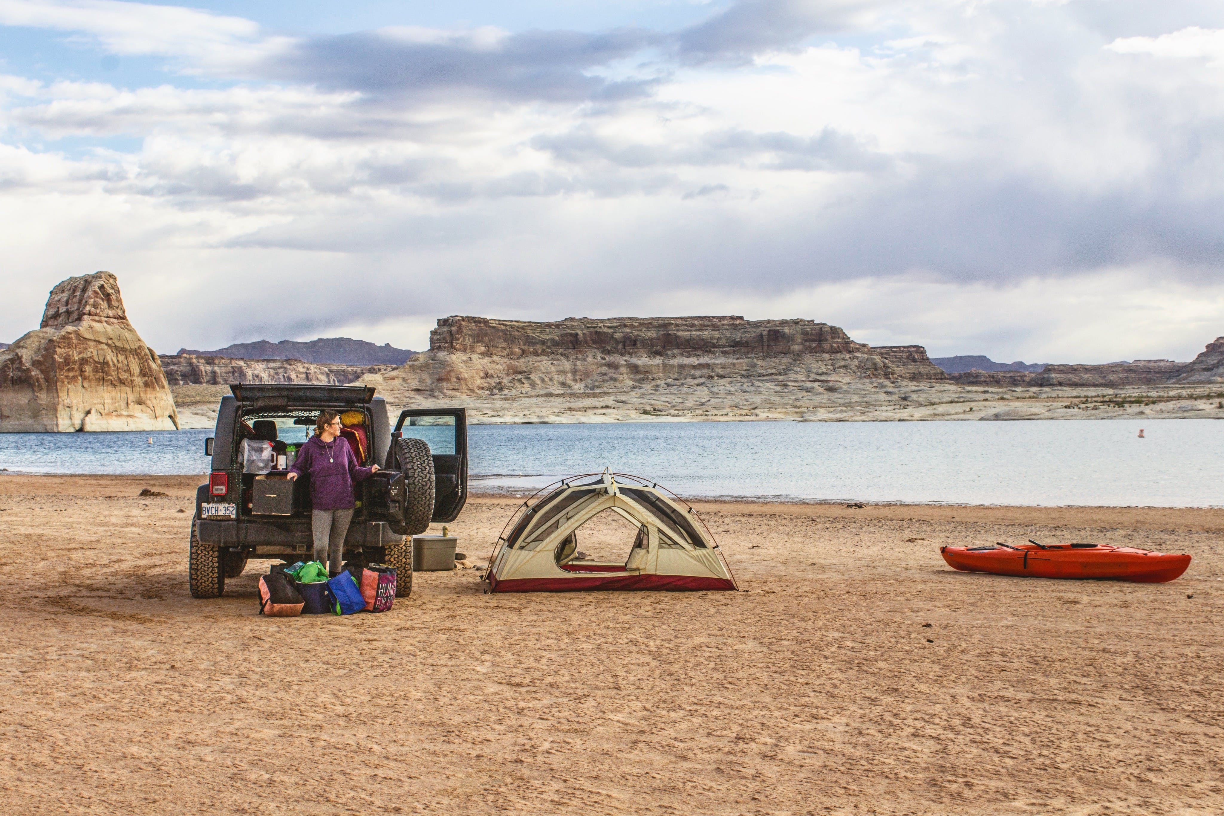Lone Rock Beach Primitive Camping, UT | The Dyrt