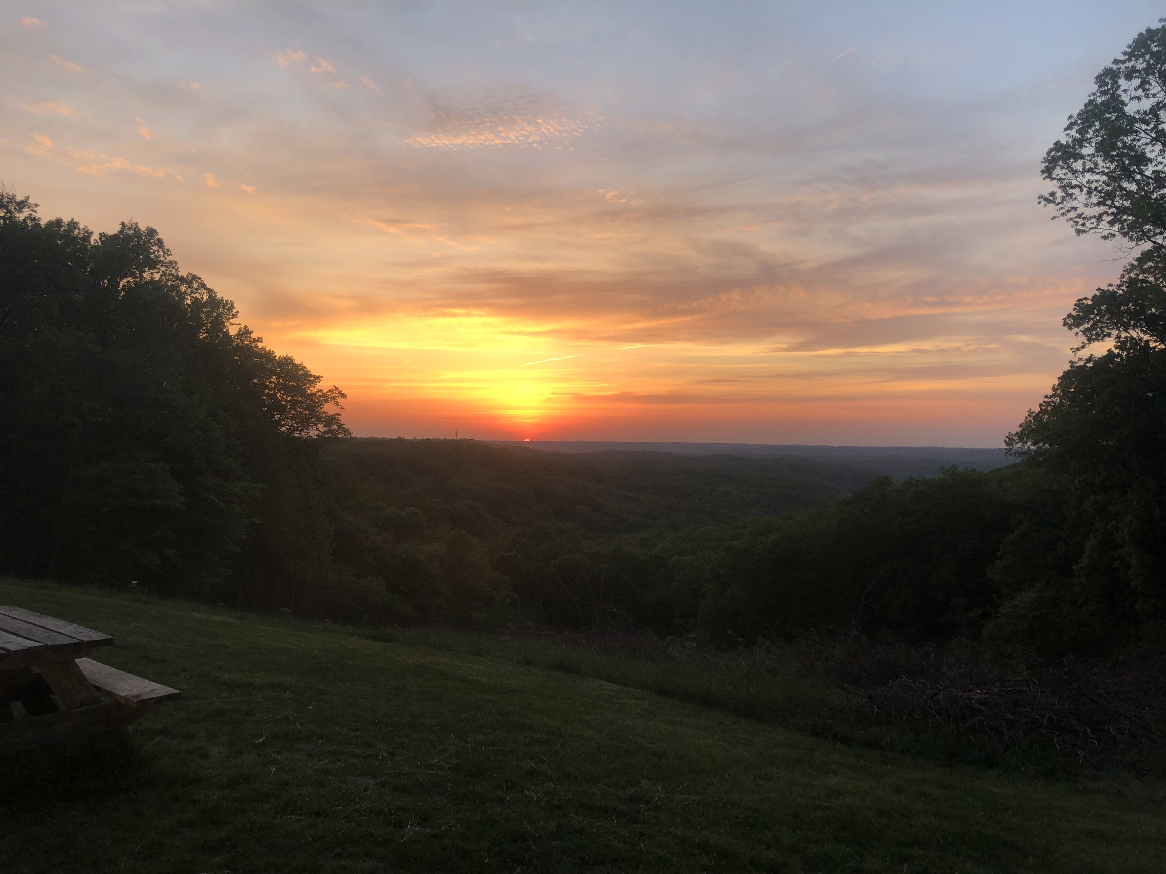 A sunset at Brown County State Park